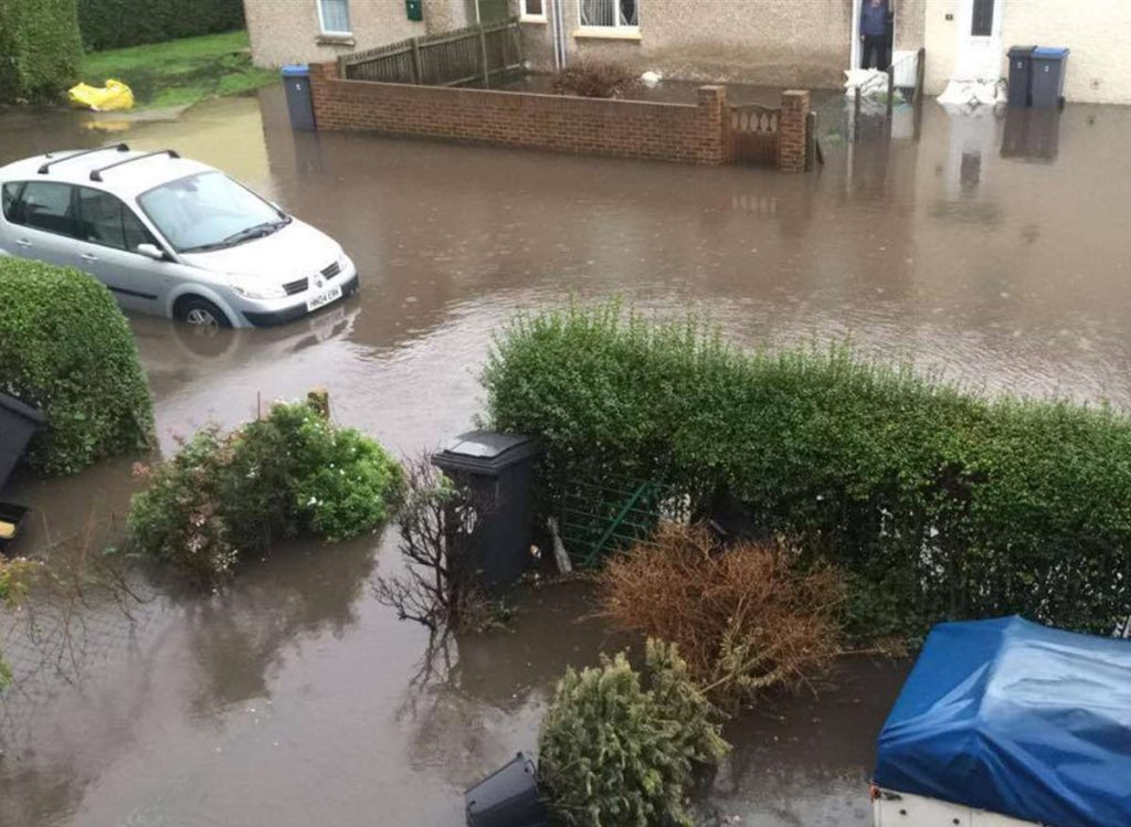 Freemans Way Deal Flooded